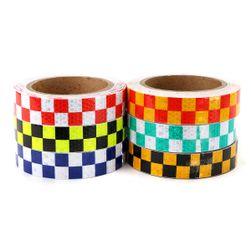 Reflexní páska 10 m - mix barev a vzorů