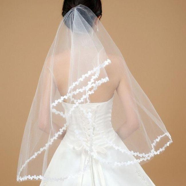 Svatební závoj - Bílá 1