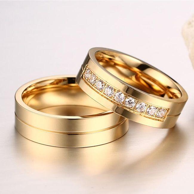 Zaručnički prstem - zlatna boja 1