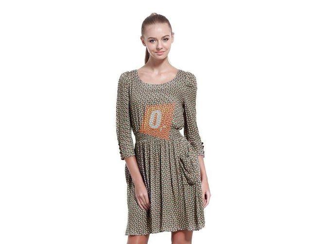 Dámské letní šaty s geometrickým vzorem - vel. S 1