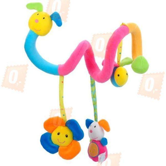 Barevná hračka pro děti - had se zvířátky 1