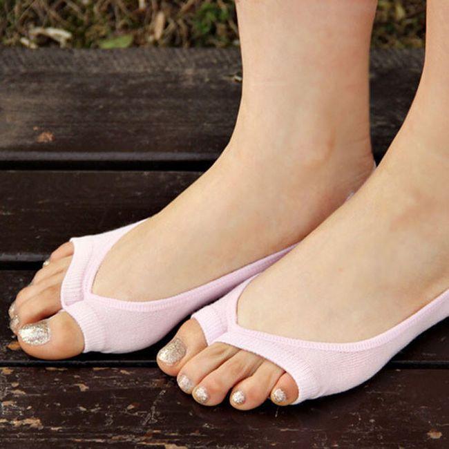 Neviditelné ponožky bez prstů 1