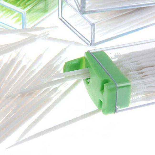 Plastová párátka v krabičce - 50 kusů 1