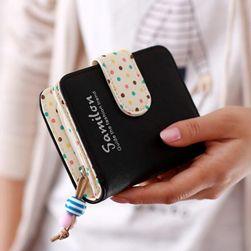 Peňaženka pre ženy s farebným zapínaním Čierna