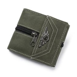 Férfi pénztárca cipzárral és emblémával - 3 szín