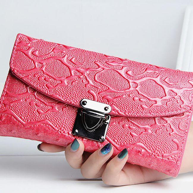 Dámská peněženka v luxusním provedení - Růžová 1
