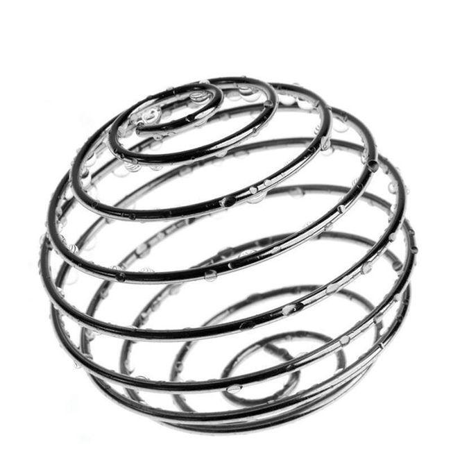 Kovová spirálovitá kulička jako metlička 1