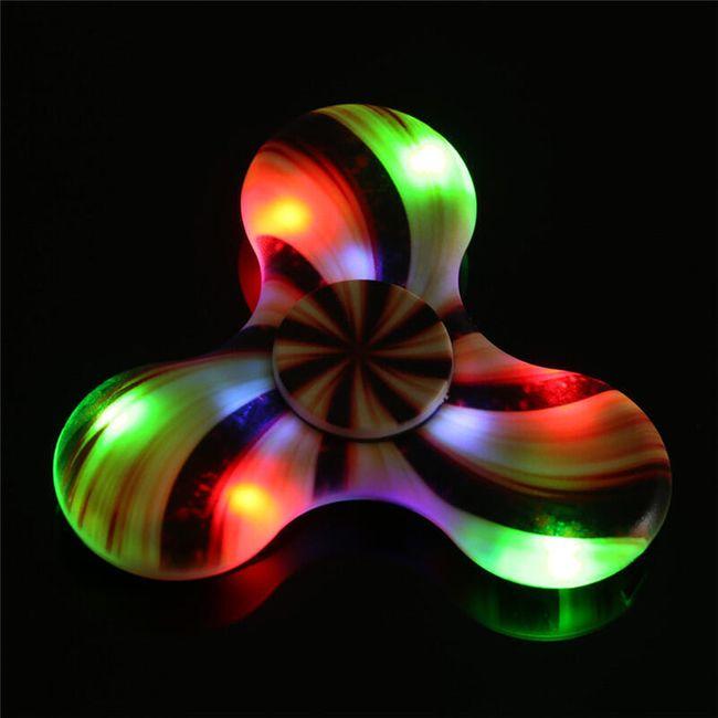 Fidget spinner s LED světly a bluetooth reproduktorem 1