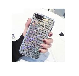 Holografický kryt imitující kůži - iPhone 6, 6s, 6 Plus, 6s Plus, 7, 7 plus