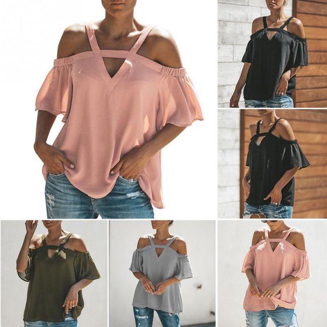 Női póló  kitett vállakkal Donya