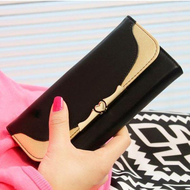 Dámská peněženka se zlatou dekorací 1