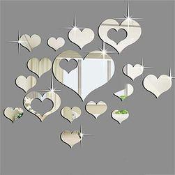 Set stikera sa efektom ogledala - Srce