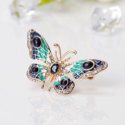 Broșă în formă de fluture cu pietricele - 3 variante