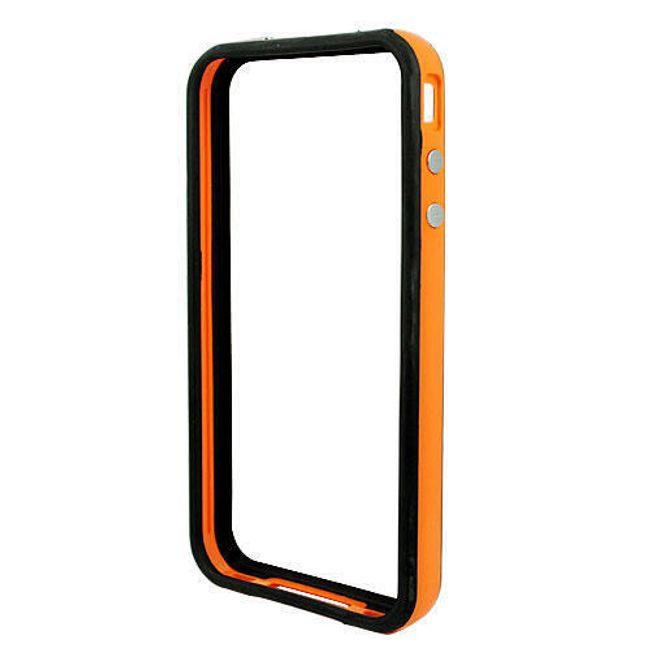 Decentní plastový ochranný rámeček pro Apple iPhone 4/4S - oranžový 1