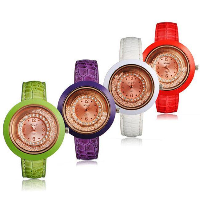 Dámské hodinky s velkým kulatým ciferníkem - ve 4 barvách 1