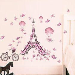 Zidna naljepnica - Eiffelov toranj s biciklom