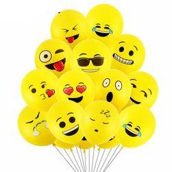 Sada balónků se smajlíky - 10 kusů