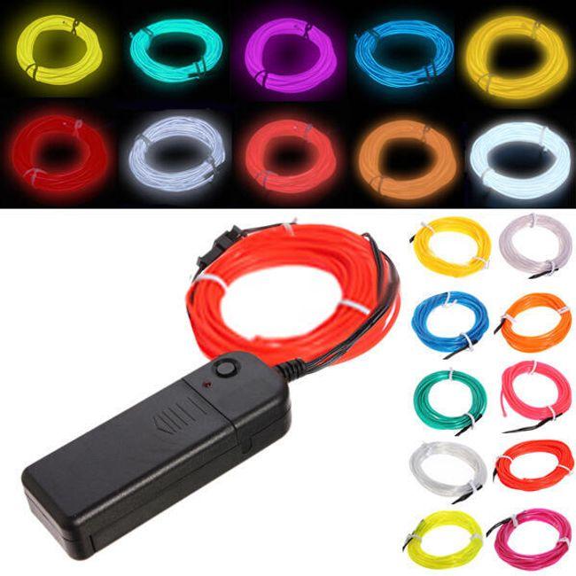 Svítící dekorativní pásek - Žlutá 1