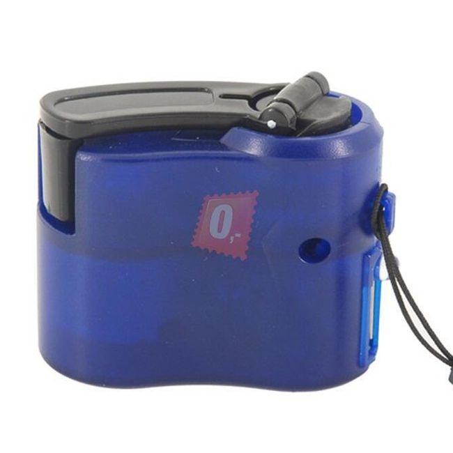 Nouzová USB nabíječka pro mobilní telefony - modrá 1