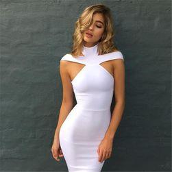 Sexy šaty s vykrojenými rameny
