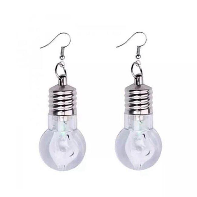 Svítící LED náušnice ve tvaru žárovky - 1 1