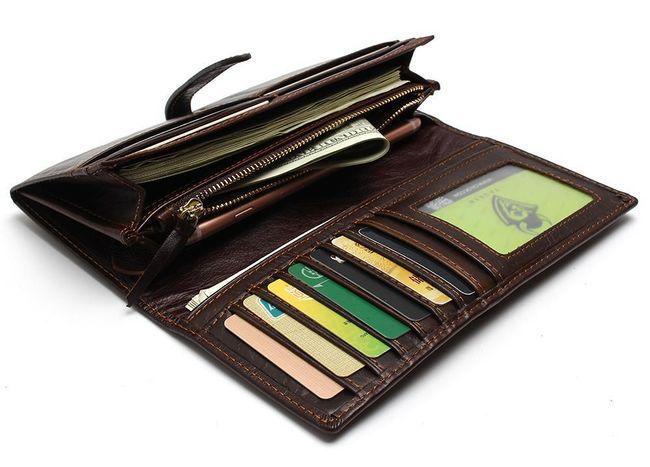 Pánská peněženka v multifunkčním provedení - hnědá barva 1