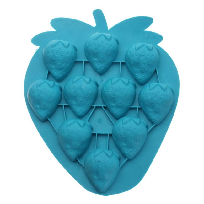 Silikonová forma na led ve tvaru jahody 1