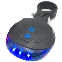 LED luč za kolo zadaj modra