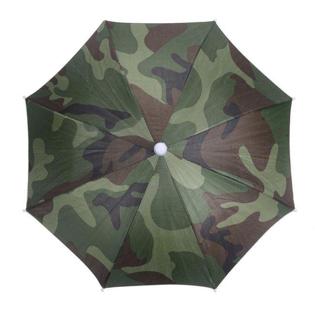 Камуфляжный зонт на голову 1