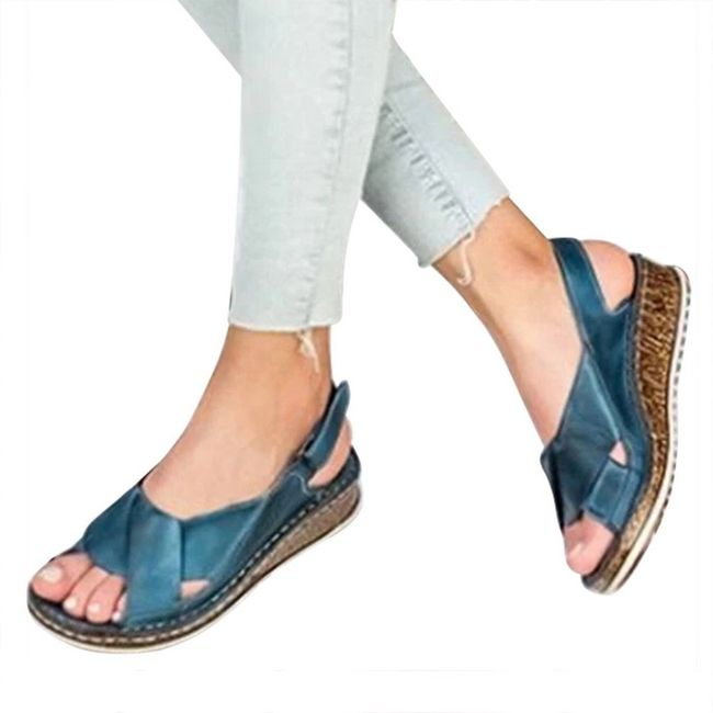 Ženske sandale na platformu DS457 1