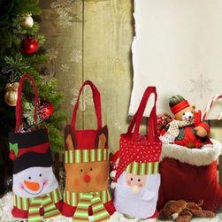 Vánoční dárková taška z flanelového materiálu