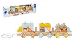 Vlak drevo ťahacie 21 dielikov v krabici 48x12x8,5cm 12m RM_00512025