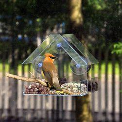 Кормушка для птиц- 15 x 6,2 x 15 см
