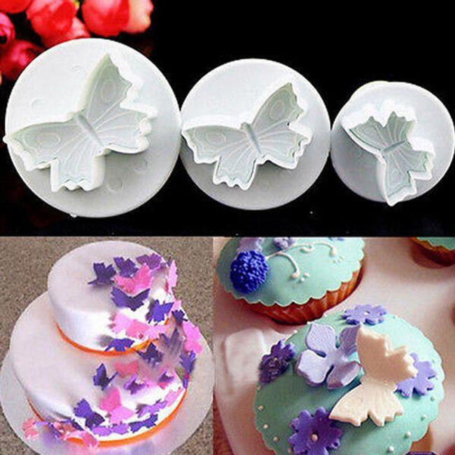 Set rezalnikov v obliki metuljev - 3 kosi 1