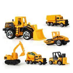 Set de vehicule de construcții - 6 bucăți