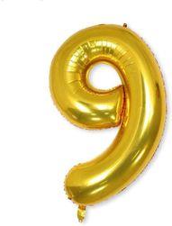 Nafukovací balónky čísla maxi zlaté - 9 SR_DS18491681