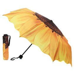 Зонт с мотивом подсолнечника