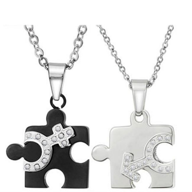 Naszyjnik z wisiorkiem Puzzle dla niego i dla niej 1