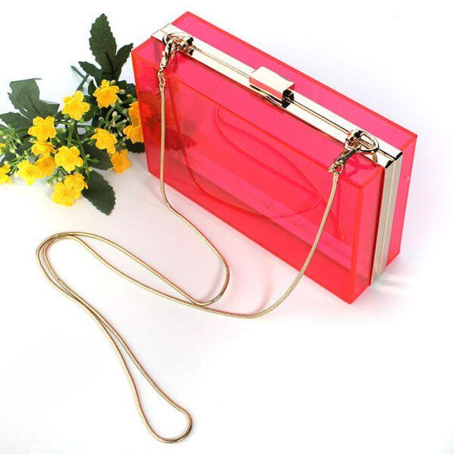 Женская прозрачная сумочка в форме кошелька - в 4 цветах 1