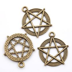 Металлические медальоны- Пентаграмм