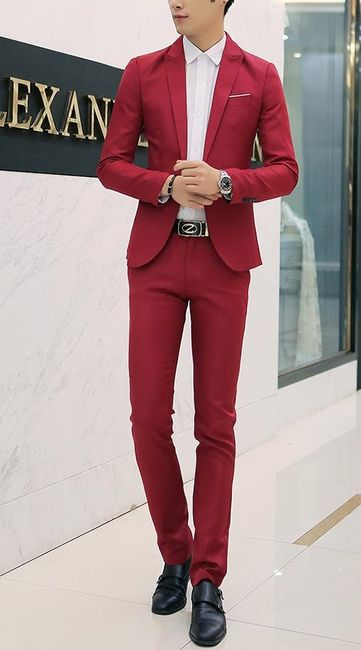 Pánský oblek - červený, vel. 5 1