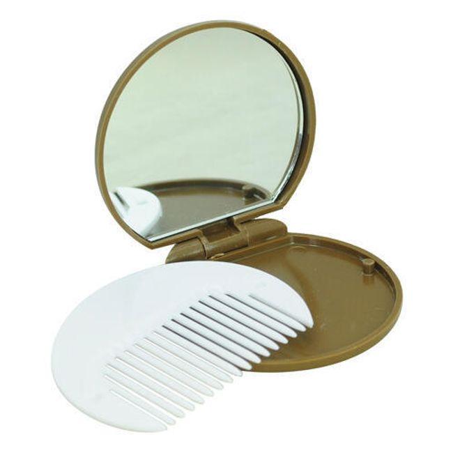 Kapesní zrcátko s hřebínkem ve tvaru sušenky 1