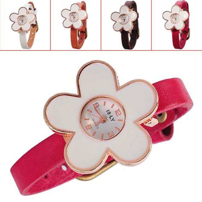 Dívčí hodinky ve tvaru květiny - 4 barvy 1