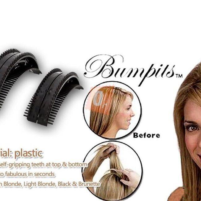 2 x vlasová vsuvka Bumpits - černá 1