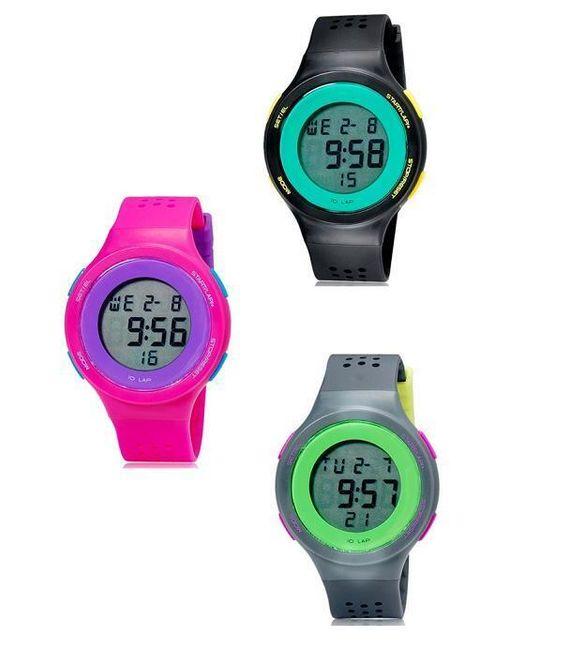 Sportowy LED zegarek w nowoczesnym kształcie - 3 kolory 1
