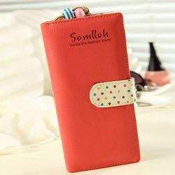 Ženska denarnica s pikami in biseri - 5 barv
