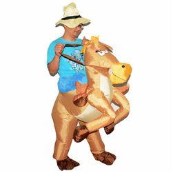 Kostim na naduvavanje - Kauboj na konju