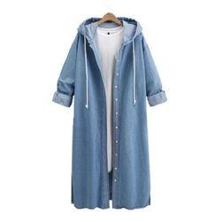 Dżinsowy płaszcz damski