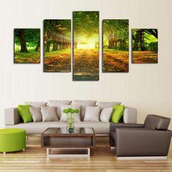 Sada obrazů se slunečnou krajinou - 5 kusů