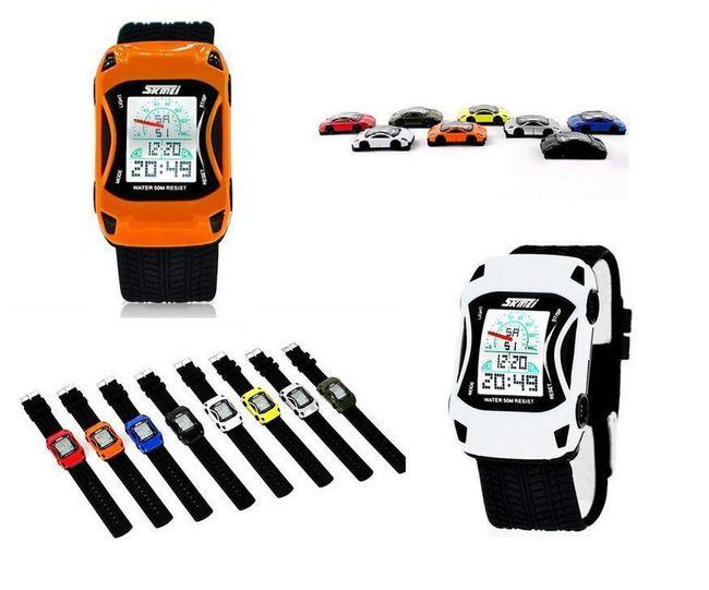 Pánské digitální hodinky Skmei v originálním designu - auto, 4 barvy 1
